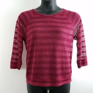 Energie XXL Maroon 3/4 Shirt Sheer NEW